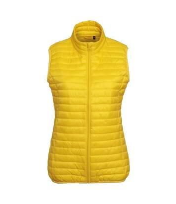 Doudoune sans manches femme - TS19F - jaune