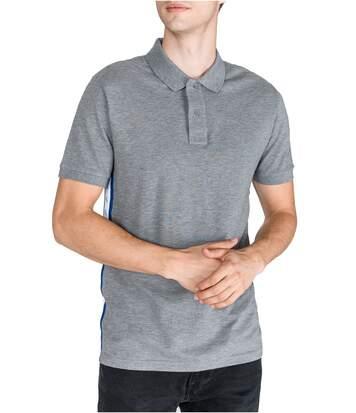 Polo coton piqué bande logo  -  Homme - Calvin klein