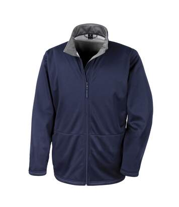 Result Core Mens Soft Shell 3 Layer Waterproof Jacket (Navy Blue) - UTBC904