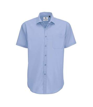 B&C Mens Smart Short Sleeve Shirt / Mens Shirts (Business Blue) - UTBC112