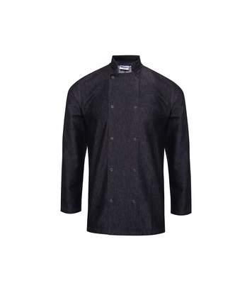 Premier Unisex Denim Chefs Jacket (Black Denim) - UTRW6173