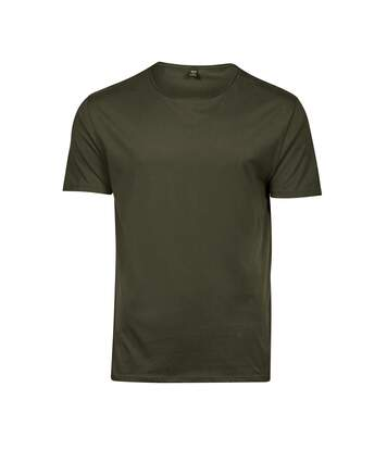 Tee Jays Mens Raw Edge Short Sleeve T-Shirt (Olive Green) - UTBC3818