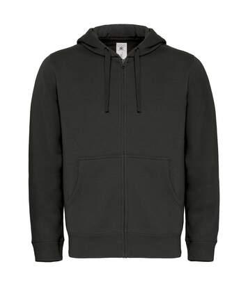 Sweat-shirt à capuche zippé - homme - WM647 - noir