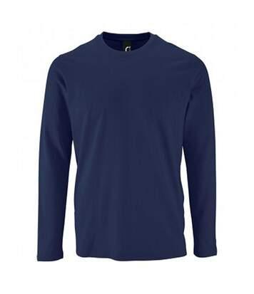 SOLS Mens Imperial Long Sleeve T-Shirt (French Navy) - UTPC2905
