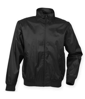 Henbury Mens Harrington Showerproof & Breathable Jacket (Black) - UTRW4844