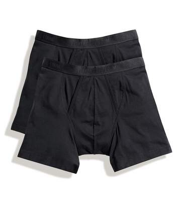 Fruit Of The Loom Mens Classic Boxer Shorts (Pack Of 2) (Black) - UTBC3358