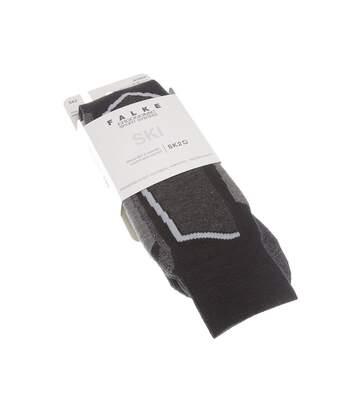 Chaussette Hautes - 1 paire - Respirantes - Raquette - Chaude - Noir - SKI