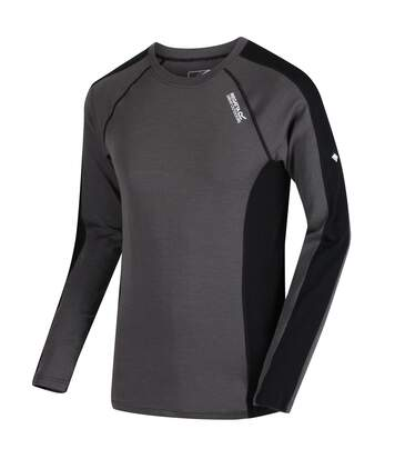 Regatta Great Outdoors Mens Beru Base Layer Shirt (Magnet Grey/Black) - UTRG2861
