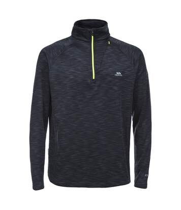 Trespass Mens Collins Half Zip Fleece Top (Black Marl) - UTTP3218