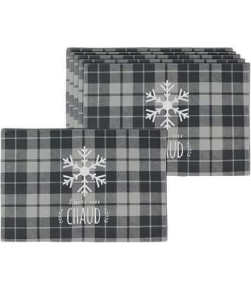 Set de table en tissu waterproof Bienvenue au chalet (Lot de 6)
