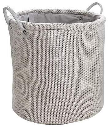 Corbeille à linge en laine doublure polyester