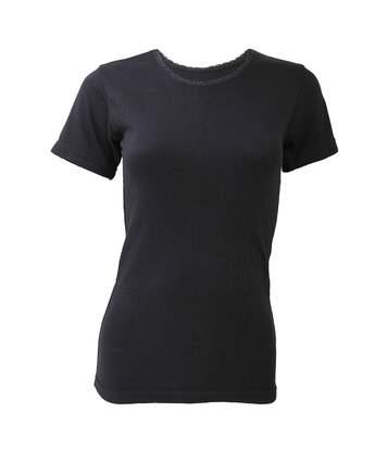 Floso - T-Shirt Thermique À Manches Courtes - Femme (Noir) - UTTHERM130