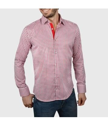 Chemise homme à carreaux rouges duo rouge - Chemise CINTRÉE