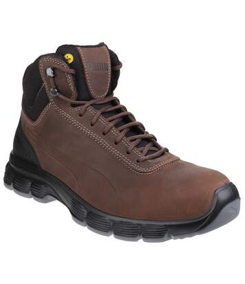 Puma Mens Condor Mid Lace Up Leather Safety Boots (Brown) - UTFS4992