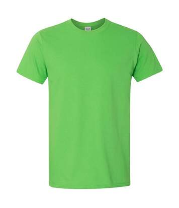Gildan Mens Short Sleeve Soft-Style T-Shirt (Electric Green) - UTBC484