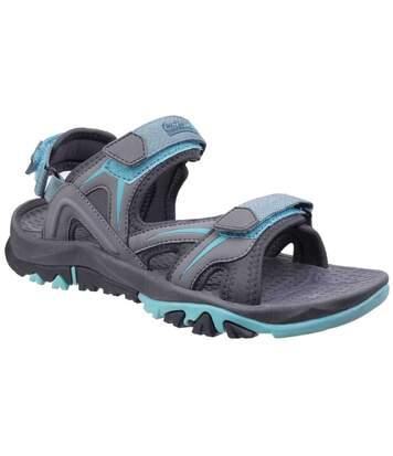 Cotswold Womens/Ladies Swinbrook Sandals (Grey/Aqua) - UTFS5154