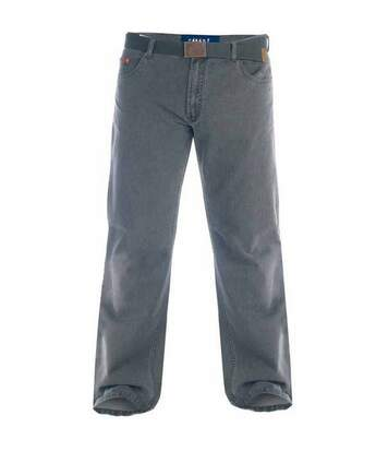 Duke London Mens Kingsize Canary Bedford Cord Trousers With Belt (Charcoal) - UTDC140