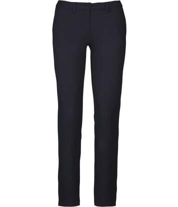 pantalon chino pour femme - K741 - bleu marine