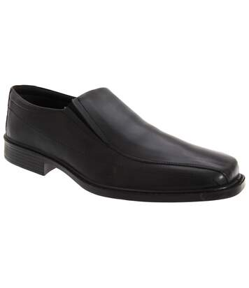 Roamers Mens Superlite Twin Gusset Leather Shoes (Black) - UTDF117