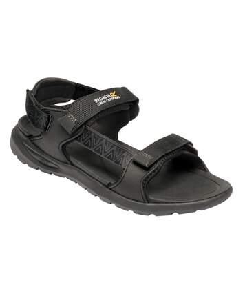 Regatta Mens Marine Web Sandals (Black) - UTRG5113