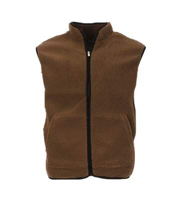 Veste Sherpa sans manches marron homme Only & Sons Onsborg