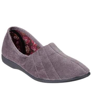 GBS Audrey Ladies Slipper / Womens Slippers (Grey) - UTFS105