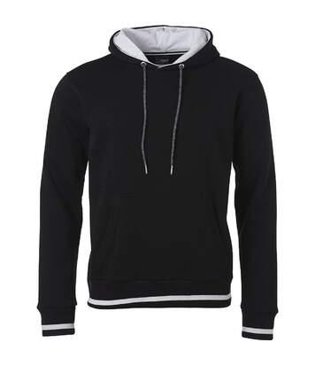 Sweat shirt à capuche homme - JN778 - noir