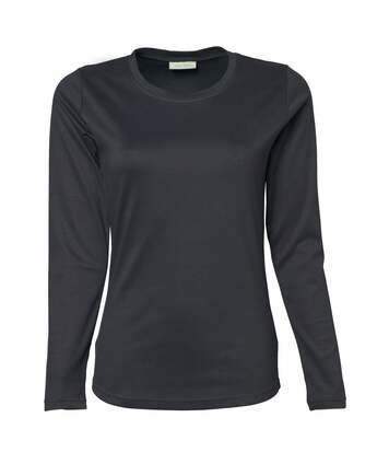 Tee Jays Womens/Ladies Interlock Long Sleeve T-Shirt (Dark Grey) - UTBC3322