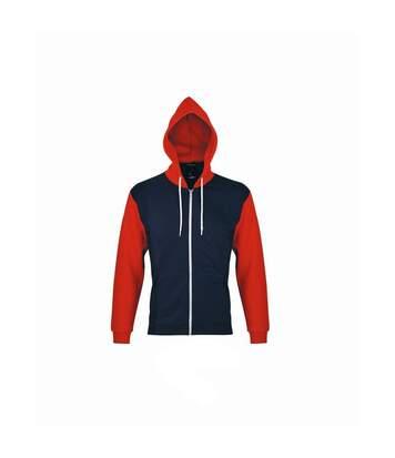 Sols Silver - Sweatshirt À Capuche Et Fermeture Zippée - Homme (Bleu marine) - UTPC342