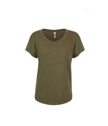 Next Level - Tri-Blend Dolman T-Shirt - Femme (Vert militaire) - UTPC3494