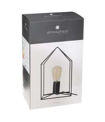 Atmosphera - Lampe métal noir forme maison H31