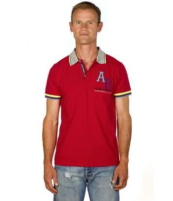 Polo Slim Coton Stretch Piqué Rouge