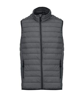 Kariban Mens Quilted Lightweight Down Bodywarmer (Marl Dark Grey) - UTPC2667