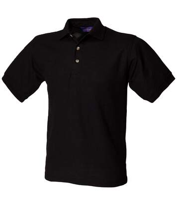 Henbury Mens Ultimate 65/35 Polo Shirt (Black) - UTRW628