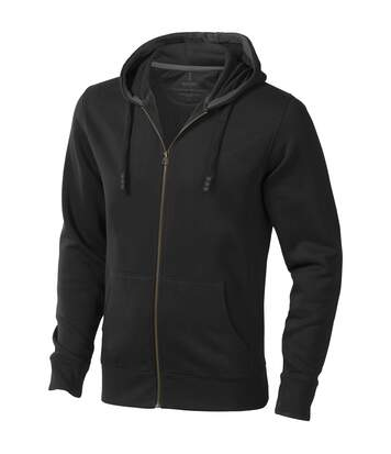 Elevate Mens Arora Hooded Full Zip Sweater (Solid Black) - UTPF1850