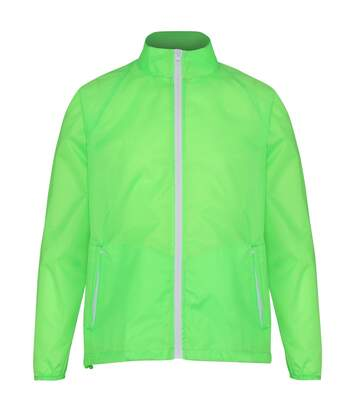 2786 Mens Contrast Lightweight Windcheater Shower Proof Jacket (Lime/ White) - UTRW2501