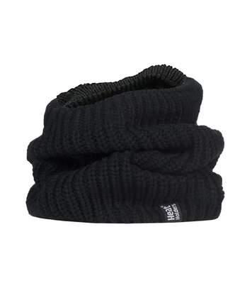Mens Fleece Lined Chunky Knit Neck Warmer