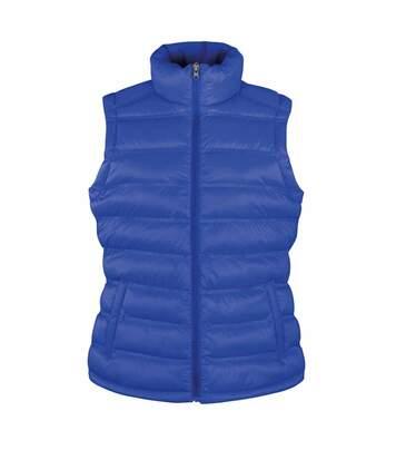 Doudoune anorak sans manches bodywarmer FEMME - R193F - bleu roi