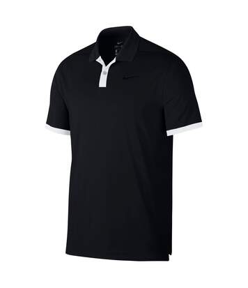 Polo NIKE manches courtes - homme - NK310 - noir et blanc