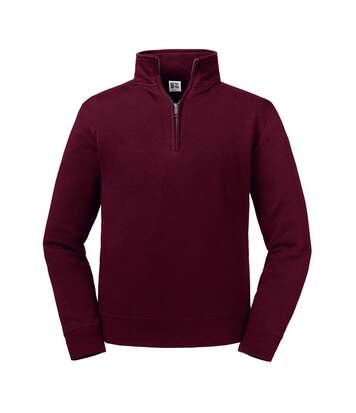 Russell Mens Authentic Zip Neck Sweatshirt (Burgundy) - UTPC4069
