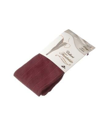 Collant chaud - 1 paire - Fantaisie - Ultra opaque - Mat - Coutures plates - Gousset coton - Couture - Rouge - Prestige