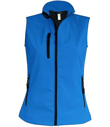 Bodywarmer softshell - gilet sans manches - K404 - bleu aqua - Femme