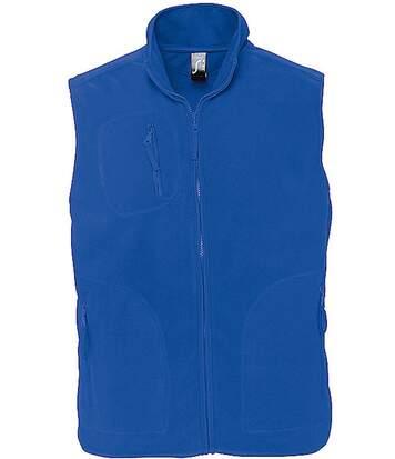 Gilet sans manches bodywarmer polaire unisexe - 51000 - bleu roi