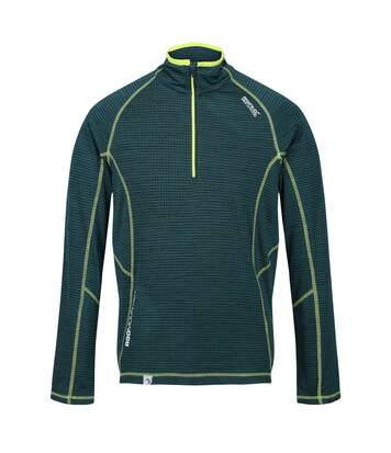 Regatta Mens Yonder Quick Dry Moisture Wicking Half Zip Fleece Jacket (Deep Pine) - UTRG3786