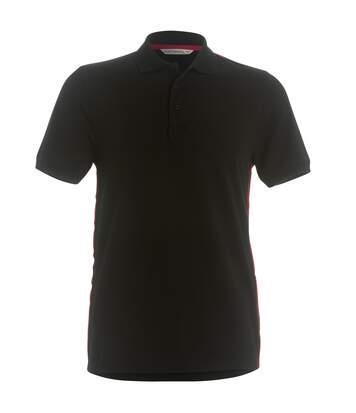 Kustom Kit Mens Team Style Slim Fit Polo Shirt (Black/ Red) - UTRW3912