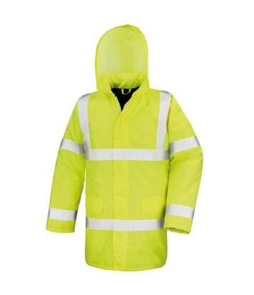 Result Core High-Viz Motorway Coat (Waterproof & Windproof) (Pack of 2) (Hi-Viz Yellow) - UTRW6883