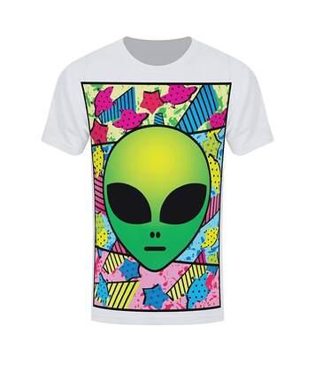 Grindstore Mens Psychedelic Alien Sub T-Shirt (White) - UTGR944