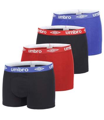 Lot de 4 Boxers coton homme uni ceinture colorées