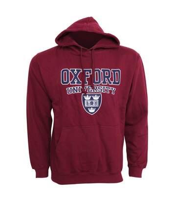 Mens Oxford University Print Hooded Sweatshirt Jumper/Hoodie Top (Maroon) - UTF165