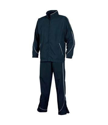 Tombo Teamsport Mens Sports Lined Full Tracksuit (Navy/White) - UTRW1524